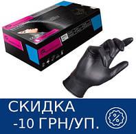Перчатки чёрные Essenti Care (MONDO) Prestige нитриловые неопудренные