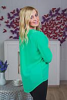 Блуза молодежная с воротником мята, фото 1
