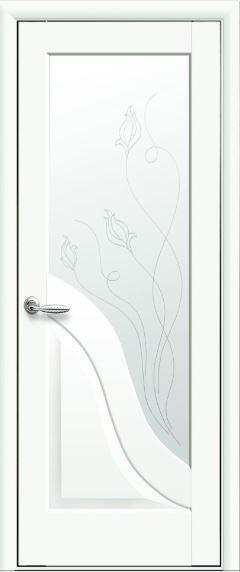 Межкомнатные двери белые Амата