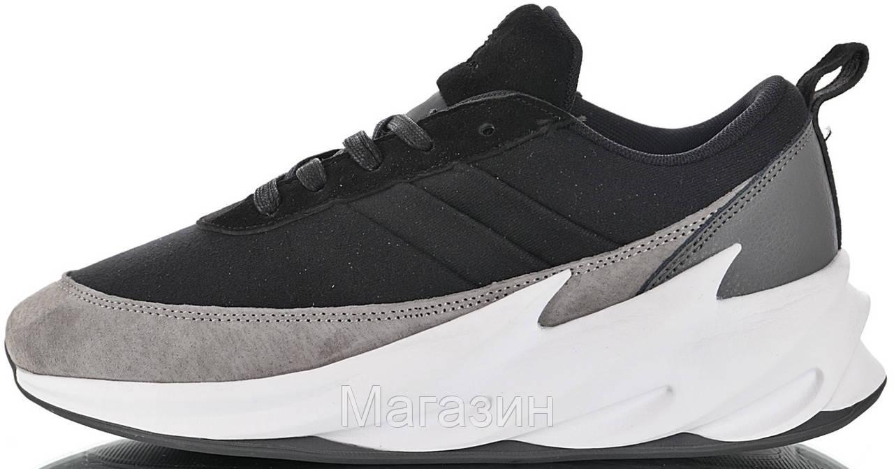 """Мужские кроссовки adidas Sharks x Nikanor Yarmin """"Deep"""" (в стиле Адидас Акулы) черные с серым"""