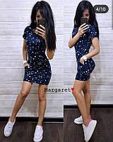 Повседневное платье с капюшоном, размеры от 42 до 46