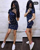 Повседневное платье с капюшоном, размеры от 42 до 46, фото 3