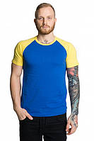 Мужские футболки двухцветные ХХЛ, синий-желтый