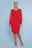 Ділова сукня з креп-дайвінгу та сітки з візерунком, фото 1