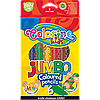 Карандаши круглые цветные супер JUMBO из натурального дерева 6 цветов Colorino Kids 1+ JUMBO