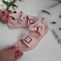 Босоніжки дитячі рожеві для дівчинки., фото 1