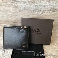 Кожаный мужской кошелек Dolce&Gabbana