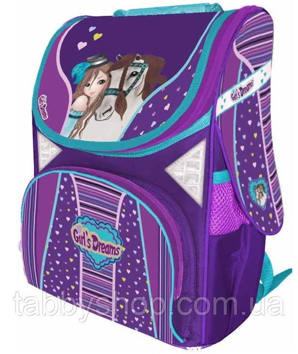 Ранец ортопедический с жестким каркасом CLASS Girl & Horse