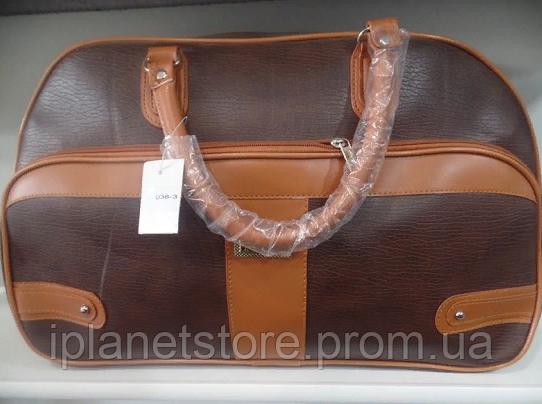 a1cae1257146 Дорожная сумка материал кожзам модель 038-3 цвет коричневый - Интернет  магазин MD Collection в