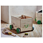 IKEA FLISAT Ящик для хранения игрушек на колесах  (102.984.20), фото 2