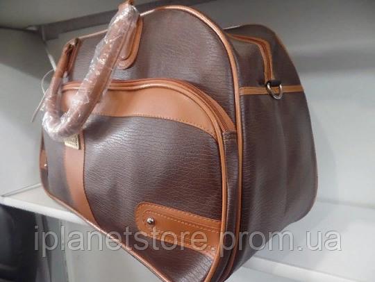 50778b286e03 Дорожная сумка материал кожзам модель 038-3 цвет коричневый, цена ...