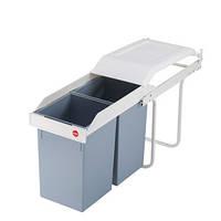 Ведро для мусора встраиваемое hailo multi box (2x15 литров), фото 1