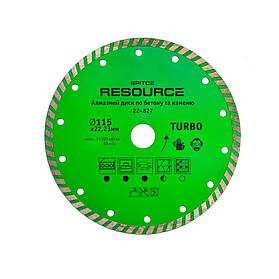"Алмазный диск ""TURBO"", 115 мм, Resource Spitce (22-827) шт."