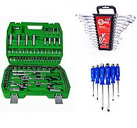 Набор инструментов 94 ед. +Набор ключей комбинированных 12 ед. HT-1203 + Набор ударных отверток 6 шт