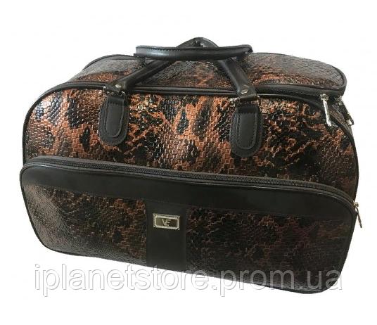 626ca95a5e25 Дорожная сумка материал лак модель 1008 цвет коричневый - Интернет магазин  MD Collection в Одессе