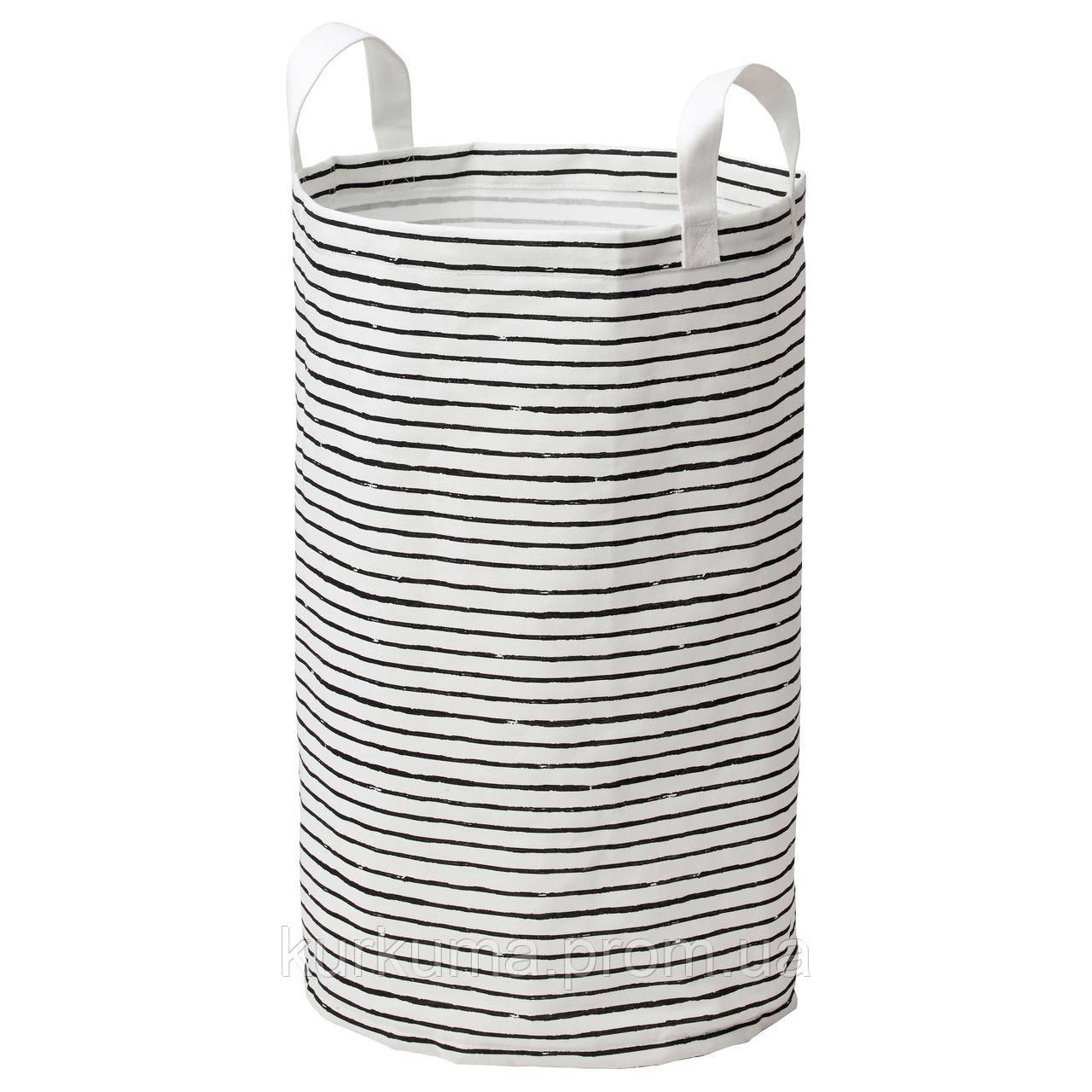 IKEA KLUNKA Корзина для хранения, белый, черный  (503.643.71)