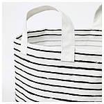IKEA KLUNKA Корзина для хранения, белый, черный  (503.643.71), фото 2