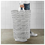 IKEA KLUNKA Корзина для хранения, белый, черный  (503.643.71), фото 3