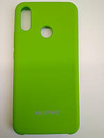 TPU + PC + MicroFiber Silicone Case for Huawei P Smart+ / Nova 3i Lime Green (зеленый лайм)