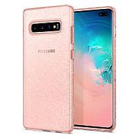 Чохол Spigen для Samsung Galaxy S10 Plus Liquid Crystal Glitter, Rose Quartz (606CS25763)