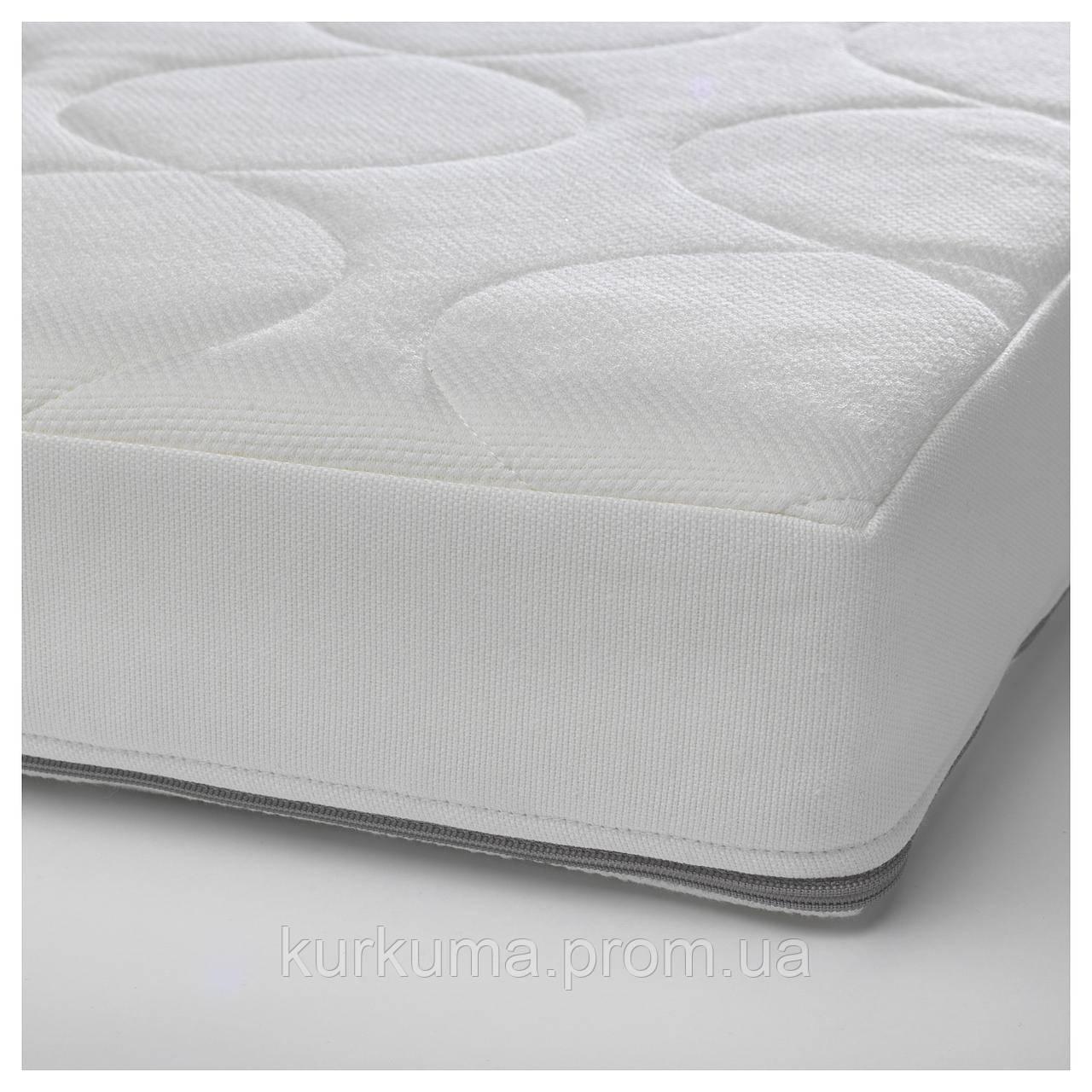 IKEA JATTETROTT Матрас для детской кроватки, белый  (403.210.04)