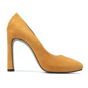 Туфли женские Woman's heel 41 горчичные (О-525)