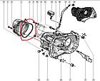 Прокладка кришки КПП Dacia Logan з 2004 Renault Kangoo, Megane з 1997 RENAULT 8200117602 оригінал, фото 2