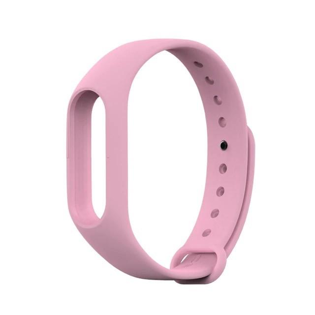 Ремешок TPU для фитнес-браслета Xiaomi Mi Band 2 Pink