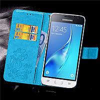 Чехол Clover для Samsung Galaxy J1 Mini / J105 книжка кожа PU Blue