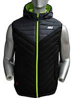 Мужской жилет-безрукавка Найк Nike из плащевки на синтепоне, жилетки спортивные