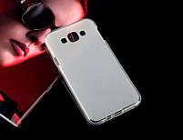 Накладка Samsung E7 Силикон белая, фото 2
