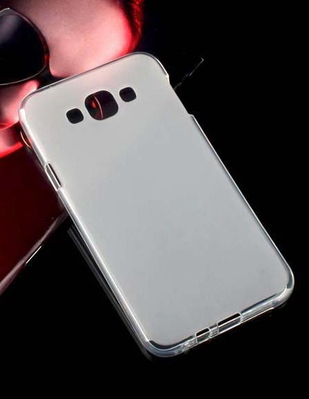 Накладка Samsung E7 Силикон белая