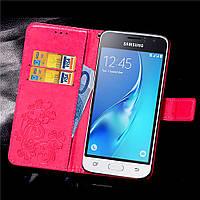 Чехол Clover для Samsung Galaxy J1 Mini / J105 книжка кожа PU Pink