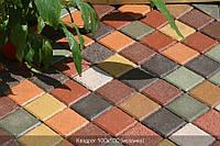 Тротуарная плитка Квадрат 100х100 - красный, фото 1