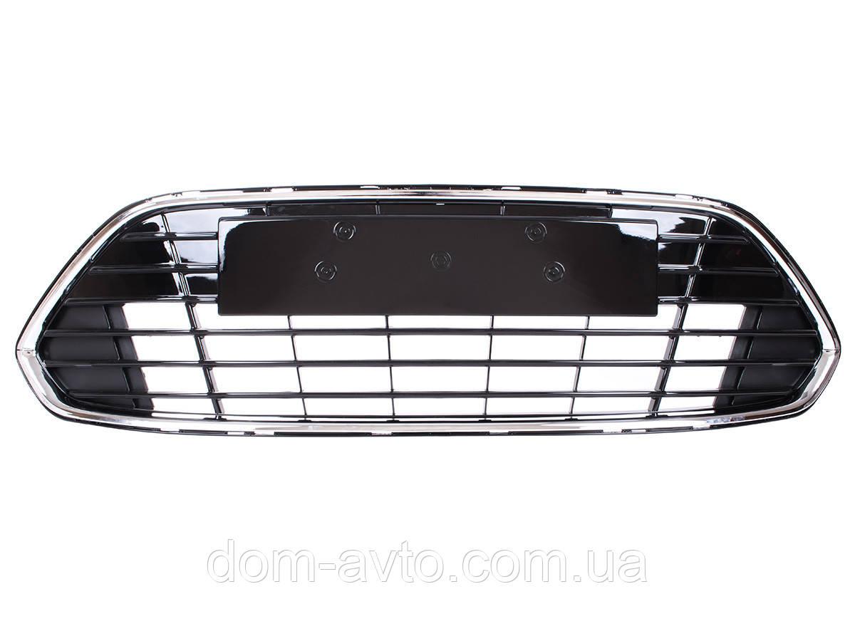 Заглушка решетка в передний бампер Ford Mondeo Mk4 FL 2010-