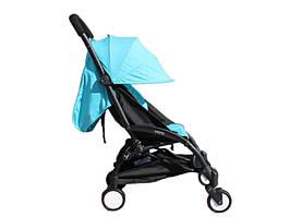 Детская коляска Yoya 175 A Бирюза лен черная рама