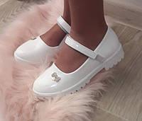 Туфлі дитячі білі 31-36 для дівчинки