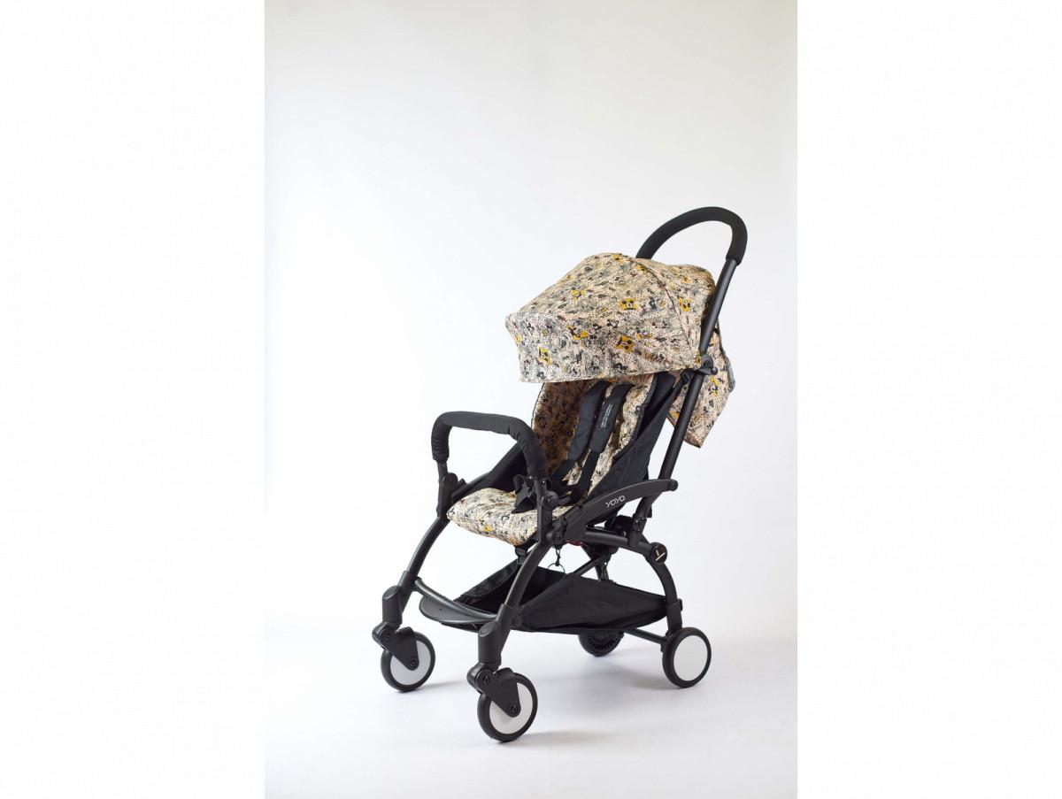 Детская коляска YOYA 175A+ Гуффи черная рама