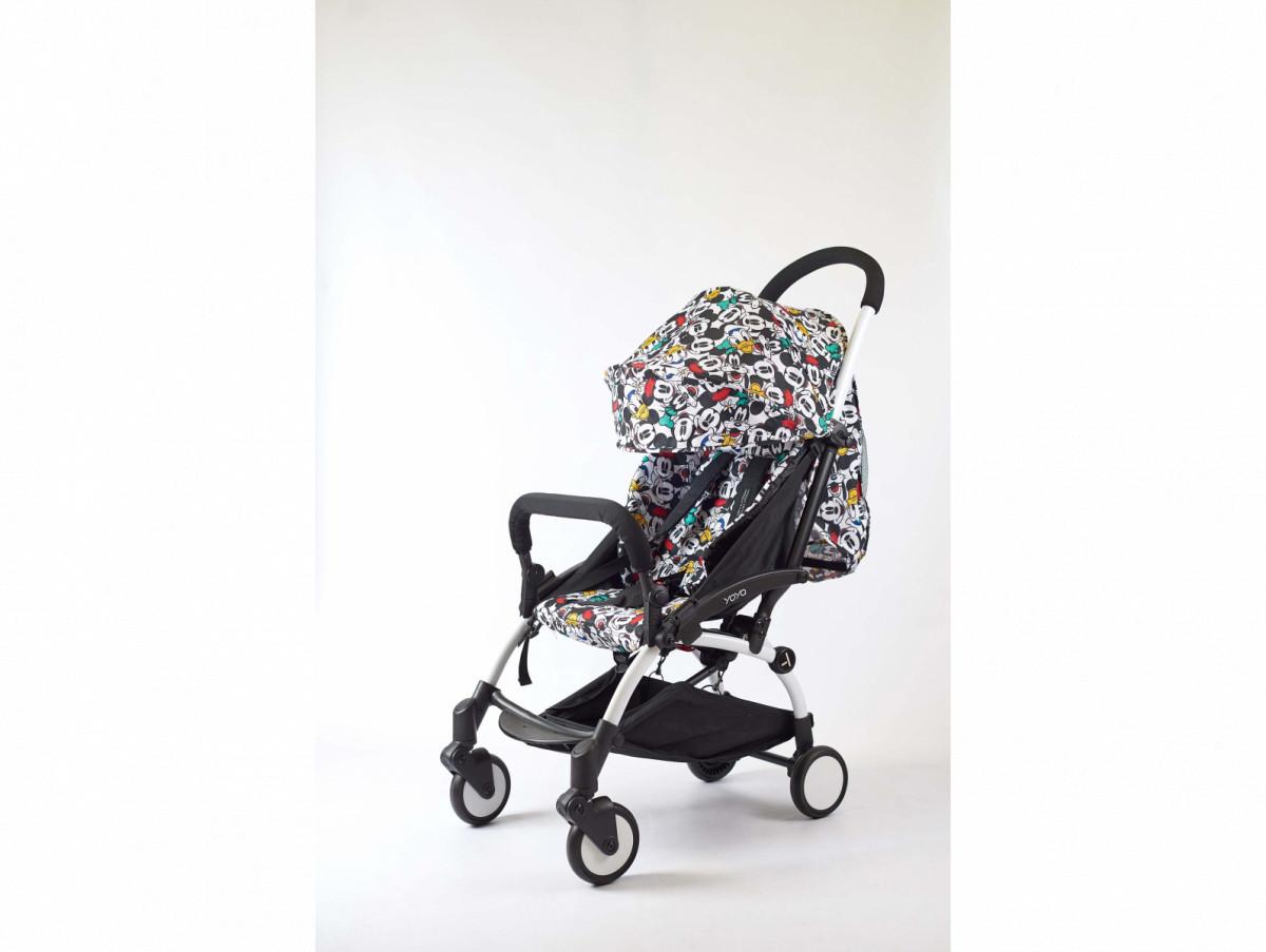 Детская коляска YOYA 175A+ Дисней оксфорд белая рама