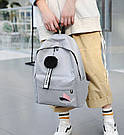Рюкзак молодежный с брелком помпоном розовый., фото 8
