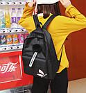 Рюкзак молодежный с брелком помпоном розовый., фото 9