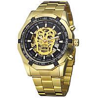✮Механические часы Winner 486 Gold автоматические мужские нержавеющая сталь влагозащищенные нержавеющие