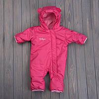 Детский комбинезон демисезонный Basic розовый р. 74/80, фото 1