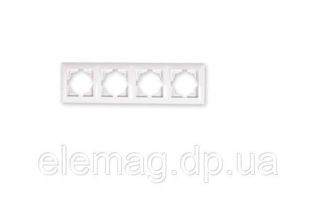 Рамка четырехместная Visage крем