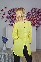 Туника женская с пуговицами желтая