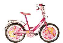 """Двухколесный велосипед Mustang Принцесса 18"""" розовый"""
