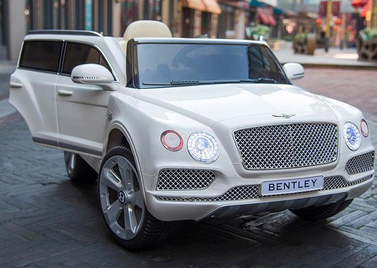 Детский электромобиль Bentley Bentayga JJ2158 белый на пульте, електромобиль Бентли