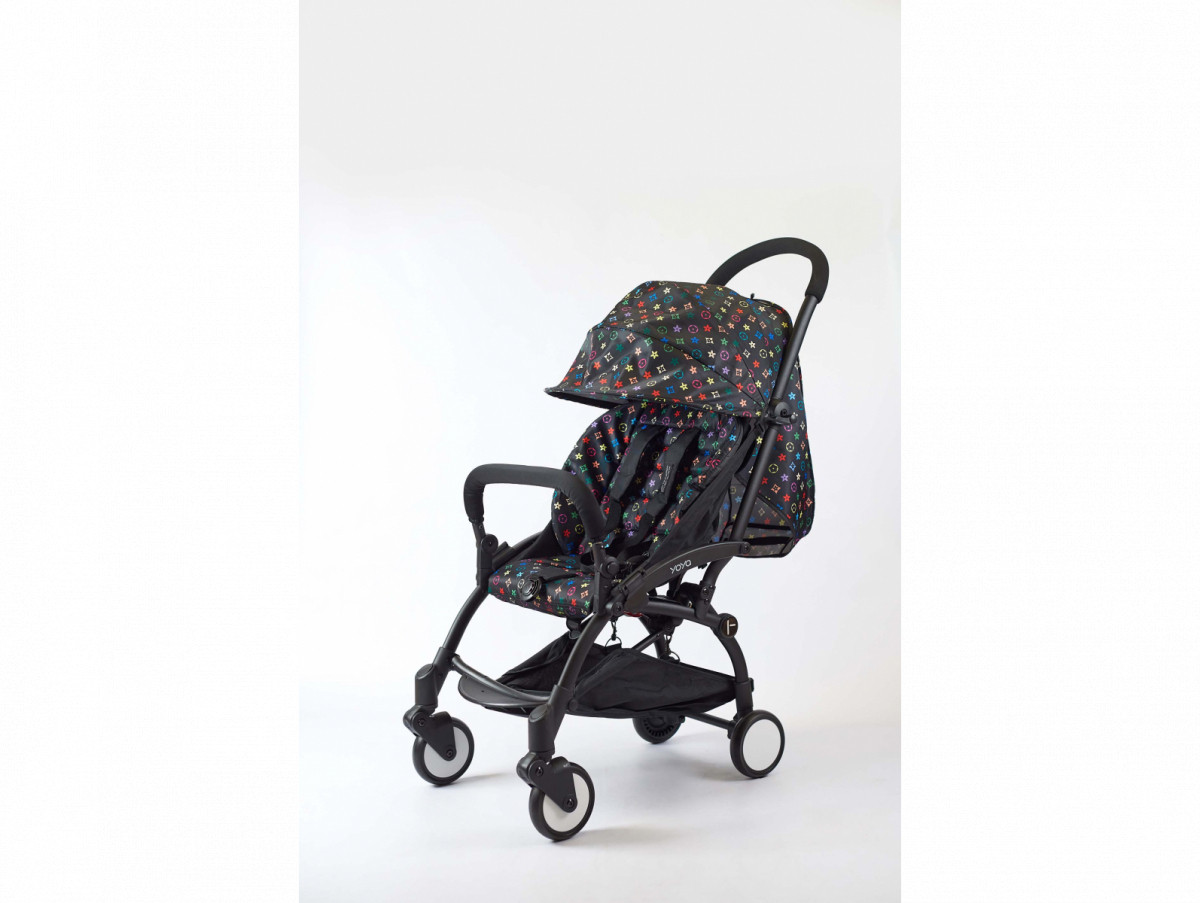 Детская коляска YOYA 175A+ Луи Витон черная рама