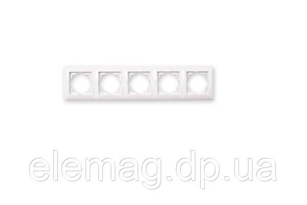 Рамка пятерная Visage крем