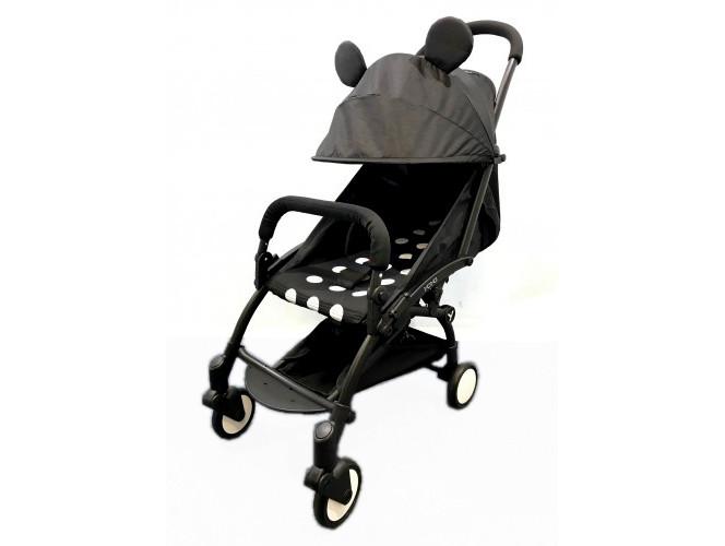 Детская коляска YOYA 175A+ Микки оксфорд черная рама